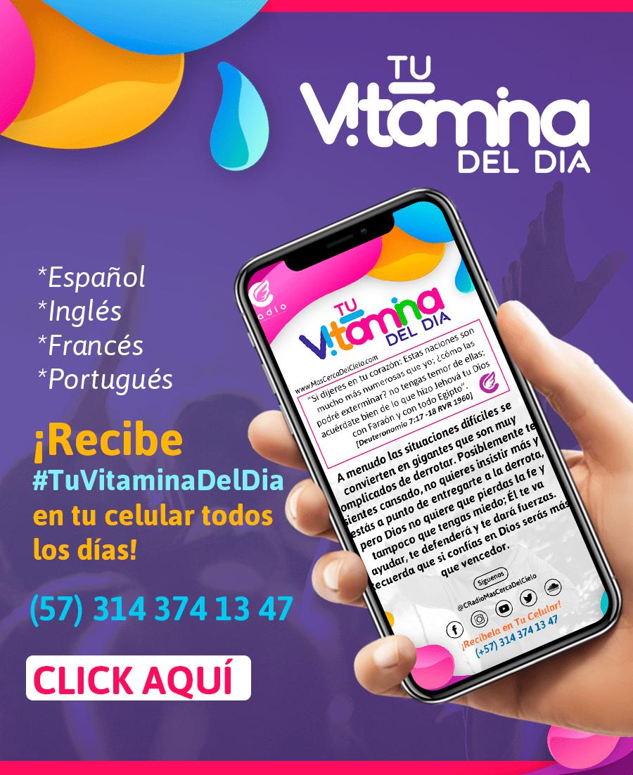 Tu Vitamina del día #TuVitaminaDelDia Movimiento Misionero Mundial